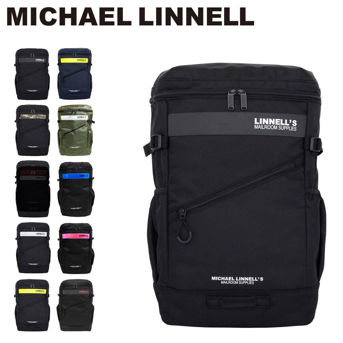 マイケルリンネル リュック スクエア 大容量 32L A4 メンズ レディース ML-020 MICHAEL LINNELL リフレクター PCケース バックパック リュックサック 通勤 通学 [PO10][bef][即日発送]