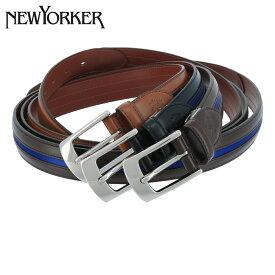 ニューヨーカー ベルト メンズ NY-5080119 日本製 NEWYORKER | ピンタイプ ビジネス カジュアル フォーマル 牛革 本革 レザー ブランド専用BOX付き [PO5]