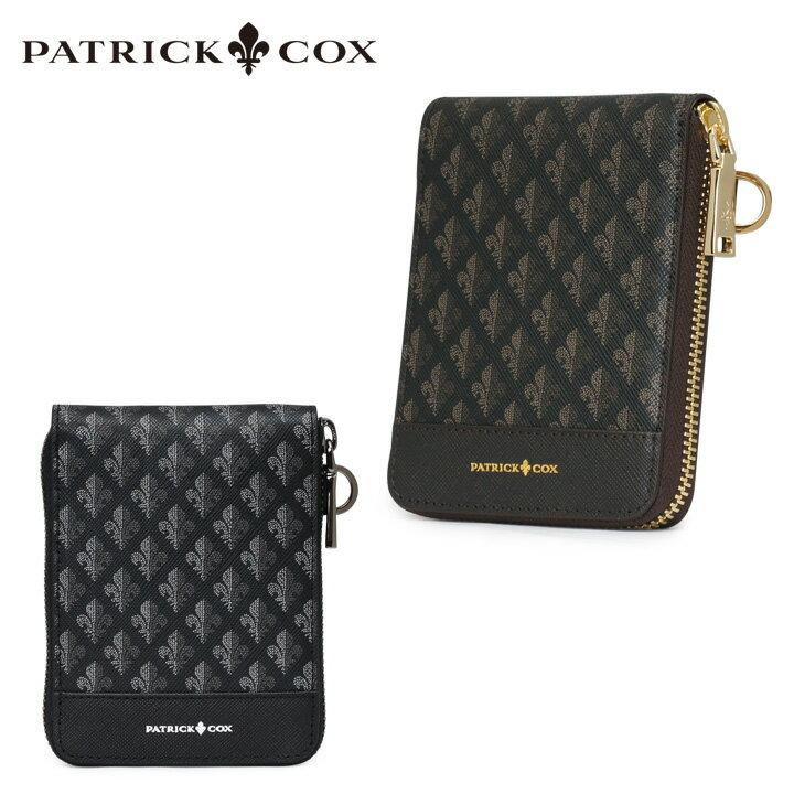 パトリックコックス 二つ折り財布 メンズ pxmw6ds4 Maison PATRICK COX ラウンドファスナー札入れ 本革 ブランド専用BOX[bef]
