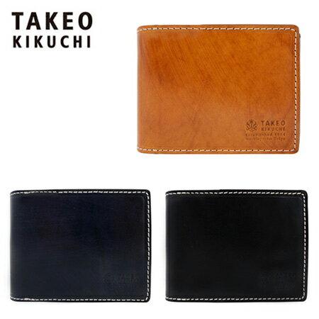 タケオキクチ 財布 二つ折り メンズ ハンド 728604 TAKEO KIKUCHI 本革 レザー キクチタケオ 【PO5】【bef】【即日発送】