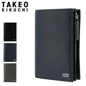 タケオキクチ 二つ折り財布 L字ファスナー バース メンズ 706625 TAKEO KIKUCHI | 本革 レザー ブランド専用BOX付き[PO5][bef][即日発送]