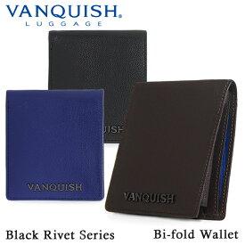 ヴァンキッシュ 二つ折り財布 メンズ VA-W013 VANQUISH ブラックリベット [PO5][bef]