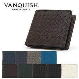 ヴァンキッシュ 二つ折り財布 牛革編込み VNQ-712040 VANQUISH ウォレット メンズ[PO10][bef]