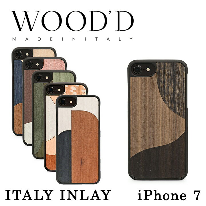 Wood'd iPhone8 iPhone7 iPhone6 ケース Real wood Snap-on covers ITALY INLAY レディース メンズ 木製 イタリア製 アイフォン スマホケース スマートフォン カバー ハンドメイド ウッド 【PO10】【bef】【即日発送】