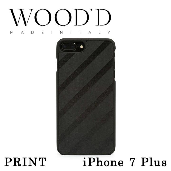 Wood'd iPhone8Plus iPhone7Plus iPhone6Plus ケース Real wood Snap-on covers PRINT レディース メンズ 木製 イタリア製 アイフォン スマホケース スマートフォン カバー ハンドメイド ウッド 【PO10】【bef】【即日発送】