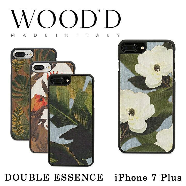 Wood'd iPhone8Plus iPhone7Plus iPhone6Plus ケース Real wood Snap-on covers DOUBLE ESSENCE レディース メンズ 木製 イタリア製 アイフォン スマホケース スマートフォン カバー ハンドメイド ウッド 【PO10】【bef】【即日発送】
