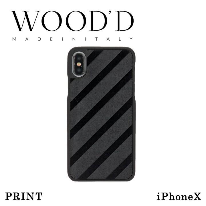 【19日20時から4h限定ワンエントリー+9倍】Wood'd iPhoneX ケース Real wood Snap-on covers PRINT レディース メンズ アイフォン スマホケース スマートフォン カバー ウッド 【PO10】【bef】【即日発送】