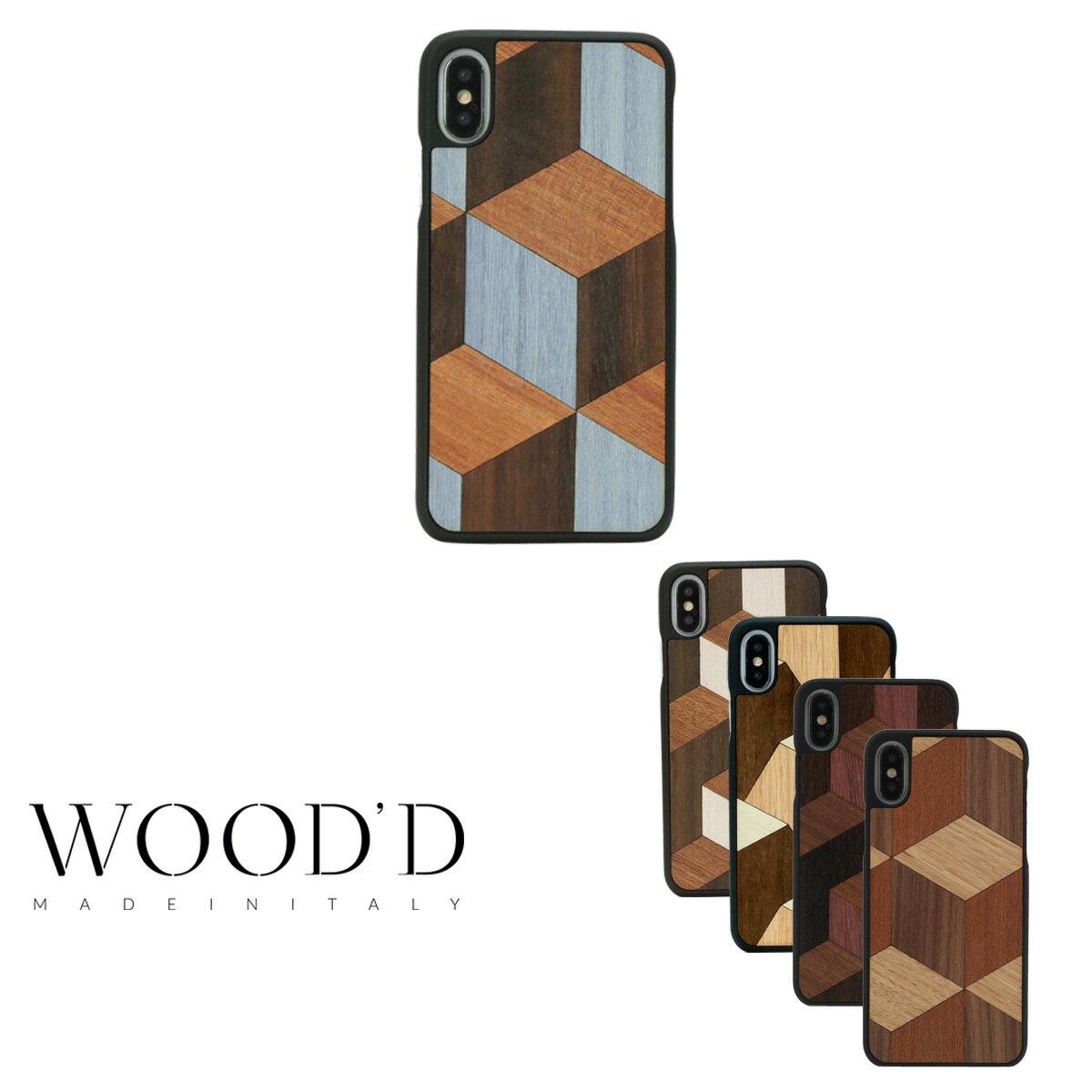 Wood'd iPhoneX ケース Real wood Snap-on covers GEOMETRIC レディース メンズ アイフォン スマホケース スマートフォン カバー ウッド 【PO10】【bef】【即日発送】