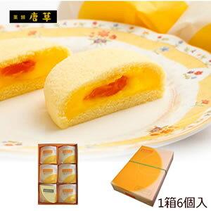 九州 長崎 土産 唐草 枇杷かすた物語 6個入 スポンジ ケーキ びわ 入り 3,980円以上 送料無料 人気 お土産