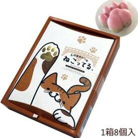 九州 長崎 お土産 ねこってる 8個入 箱入り 苺 ホワイトチョコ クランチチョコレート 猫 好きな方へ。3,980円以上 送料無料