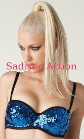 52d8df6f43  即納 L.A.Roxx Burlesque Sequin push-up bra in BLUE  L.A.Roxx