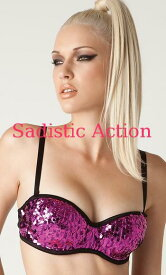 70e03ef224  即納 L.A.Roxx Burlesque Sequin push-up bra in PINK  L.A.Roxx