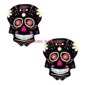 【即納】NIPZTIX Freaking Awesome Sugar Skull Pasties 【ハロウィンコスチューム】【ペイスティ・ニップレス】【ニップレス・ペイスティ】【Neva Nude(ニップレス、ペイスティ)】【FA-SKU-NS】
