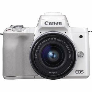 キヤノン(Canon) ミラーレス一眼 EOS Kiss M EF-M15-45 IS STM レンズキット ホワイト