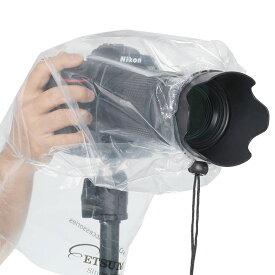 【ネコポス便配送・送料無料】エツミ カメラレインカバー簡易型M(ミラーレス・小型一眼用) 2枚入り VE-6915