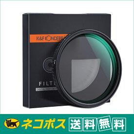 【ネコポス便配送・送料無料】K&F Concept KF-67NDX2-32 NANO-X バリアブル(可変式 ND2-ND32)NDフィルター 67mm (Xムラ制御タイプ)