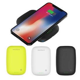 2台同時充電可能 ワイヤレス充電器 モバイルバッテリー HACRAY Cable-Free Mobile Battery(ハクライケーブルフリー)4000mAh 置くだけ充電 Qi対応 スマートフォン 充電器 ワイヤレス 充電