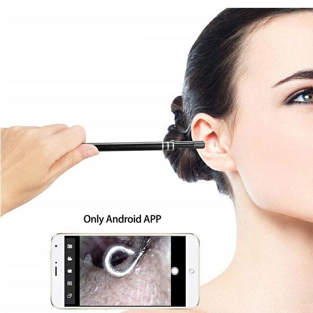 耳かき LEDライト 明るさ調整 電子耳鏡 耳かき 電子耳鏡 耳道内見える 携帯とパソコン接続 耳かきに協力 ハイビジョンカメラ 内視鏡 ledライト付き 耳掃除 多用途 防水ボアスコープ検査カメラ 家庭用オトスコープ Android アンドロイド