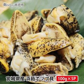 送料無料 産地直送 浜茹でツブ100g×5パック 解凍してそのまま味わえるお手軽品 つぶ つまみ 貝 刺身