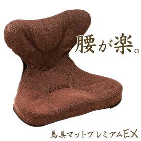 【LINEでクーポン】 腰痛対策 クッション「馬具マットプレミアムEX」【椅子用馬具マット 馬具クッション 姿勢 腰痛 クッション オフィス 骨盤クッション 猫背 イス 椅子】