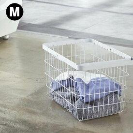 【LINEでクーポン】 ランドリーバスケット ワイヤー「ランドリーワイヤーバスケット タワー M」【収納 ランドリー 黒 白 おしゃれ ナチュラル 洗濯かご 洗濯カゴ 大きい ワイヤー】