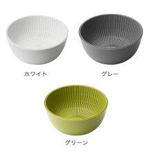 「米とぎにもつかえるザルとボウル」【ライクイットザルボウル米研ぎ米とぎキッチンプラスチックボウル耐熱調理道具ザルとボウルのセット日本製Colander&Bowl】