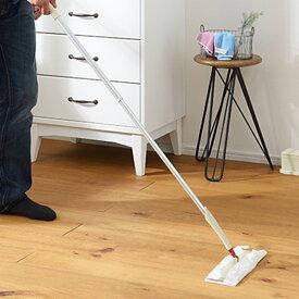 【LINEでクーポン】 「SCHALTEN ロングフローリングワイパーセット」【シャルテン フロアワイパー ワイパー本体 おしゃれ 掃除用品 掃除道具 床掃除 おそうじ 床 ホコリ ベージュ シンプル 大掃除 セット】