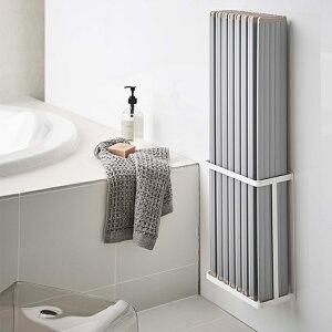 【LINEでクーポン】 「マグネットバスルーム折り畳み風呂蓋ホルダー タワー」【マグネットバスルーム折り畳み風呂蓋ホルダー タワー tower 風呂フタ 風呂 折り畳み式 シャッター式対応 置き