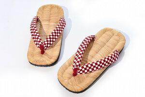草履 レディース メンズ 男女兼用 日本製 内履き 竹皮 軽部草履 『‐和‐NAGOMI‐ 市松』 ギフト 誕生日 プレゼント 贈り物 夏ギフト のし対応可