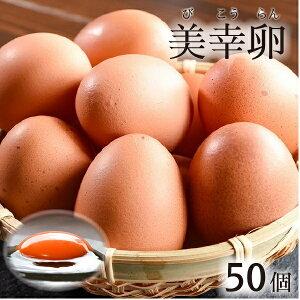 ブランド 卵 美幸卵 びこうらん M〜Lサイズ 計50個 (割れ保障10個含む)お取り寄せグルメ たまご 山形 寒河江 新鮮 濃厚 送料無料
