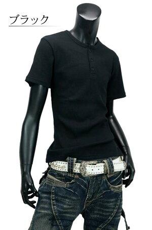 Tシャツ メンズ 半袖 Tシャツ 半袖Tシャツ メンズTシャツ カットソー トップス インナー ヘンリーネック 無地 細身 春 夏 お洒落 涼しい ストレッチ お兄系 D290327-06 男 かっこいい 服 おしゃれ ちょいわる モテ服 流行 トレンド インスタ映え