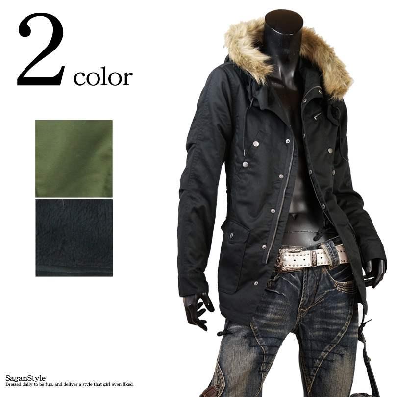 【送料無料】モッズコート メンズ ロングコート アウター ミリタリーコート ボアコート メンズファッション ストリート系 黒 ブラック カーキ 緑 グリーン カーキ オリーブ M L LL XL 3L A251025-01 og1男 かっこいい 服