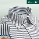 ワイシャツ 長袖 形態安定 綿100% メンズ コットンシャツ yシャツ ケンコレクション ネイビーロンスト ボタンダウンカラーシャツ 標準…