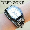 腕時計 ブレスウォッチ パイソンレザー Deep Zone トノーフェイス ホワイトフェイス スネークレザーベルト 専用ボック…