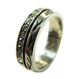 75%OFF メンズ 指輪 メンズリング シルバーミックス ジルコニア ピューター クロス リング