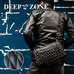 ショルダーバッグメンズ本革レザーセカンドバッグクラッチバッグキルティング大容量DEEPZONE