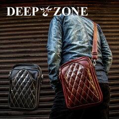 ショルダーバッグメンズ本革レザーキルティング大容量日本製DEEPZONE
