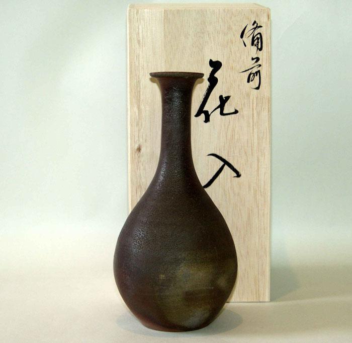 花器 花瓶 一輪挿し 備前焼 つる首花入(桟切)