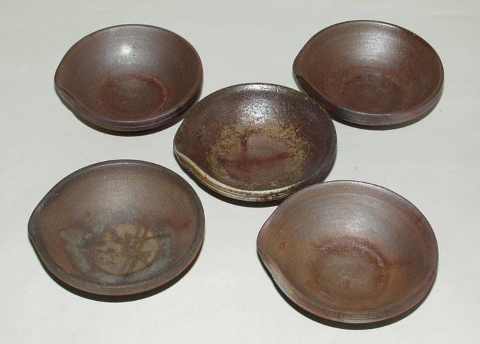 備前焼 小鉢 小皿 珍味入 小付 備前焼 片口小鉢5客 送料無料