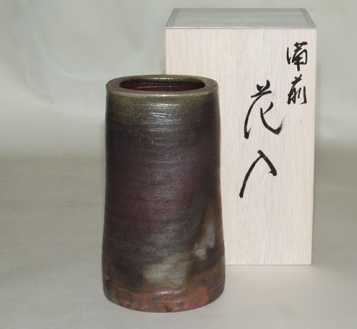 花器 花瓶 一輪挿し 備前焼 筒中花入(桟切)
