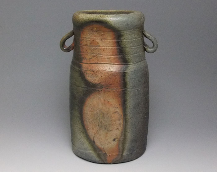 花器 花瓶 フラワーベース 備前焼 耳付花入(窯変)
