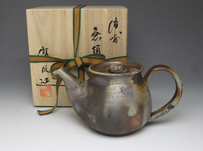 ティーポット 茶器 備前焼 木村微風作 後手急須(微風-08)