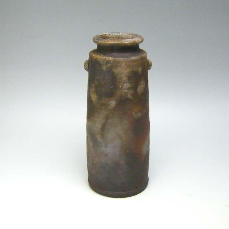 花瓶 花器 備前焼 桟切 6.5寸 花入