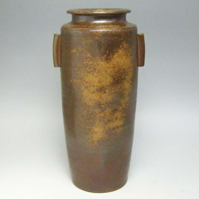 花瓶 花器 備前焼 尺ヨセ角形 花入
