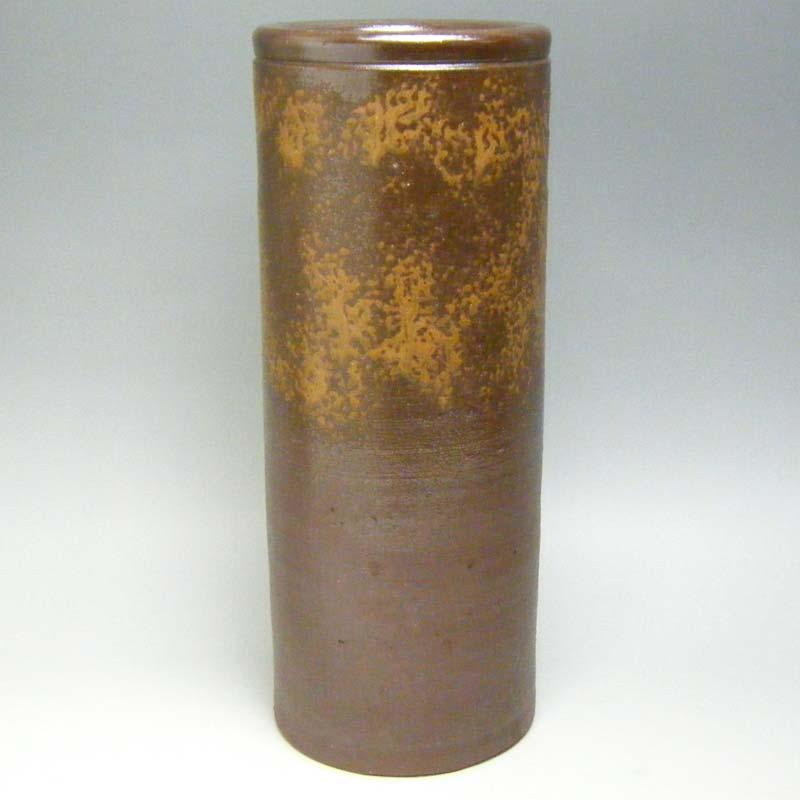 花瓶 仏壇 仏具 神具備前焼 尺寸胴花入 高さ31cm