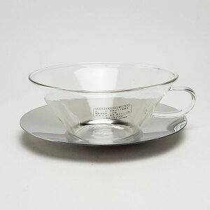 アデリア カップ&ソーサー シャロウ ステン 約250ml   おしゃれ 日本製 ハンドメイド ティーカップ デザートカップ 耐熱ガラス プレゼント ギフト 贈り物 贈答品
