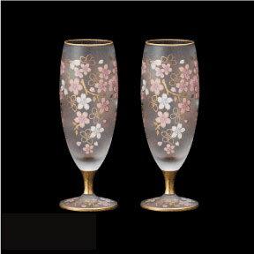 酒グラス 杯 盃 桜 さくら アデリア エル・ドラード SAKURA SAKE ペアセット