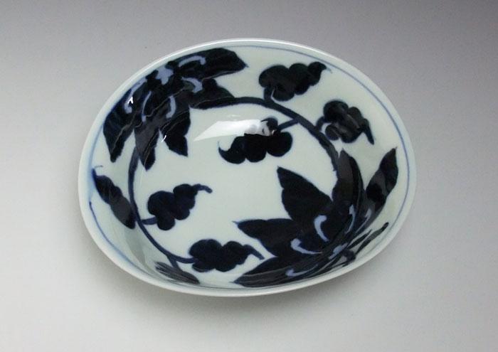 中鉢 サラダボウル 煮物鉢 盛鉢 染付 有田焼 花絵中鉢