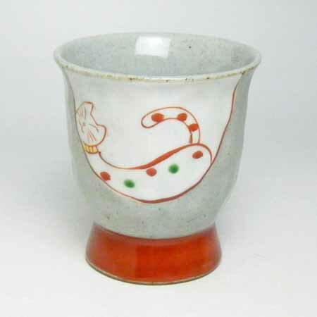 カップ 茶器 有田焼 手作りねこ 湯呑み