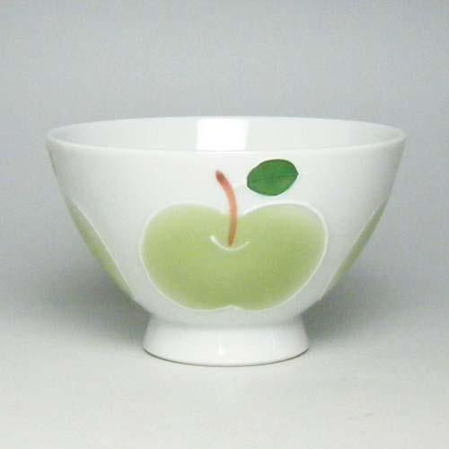 ご飯茶碗 飯碗 有田焼 高台りんご 茶碗 大